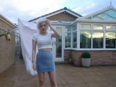 Dress changing magic trick revealed.