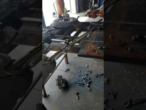 Oxygen Acetylene torch setup and cutting