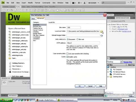 Content Management System with Dreamweaver CS4, PHP, MySQL and FCKEditor - Video 4