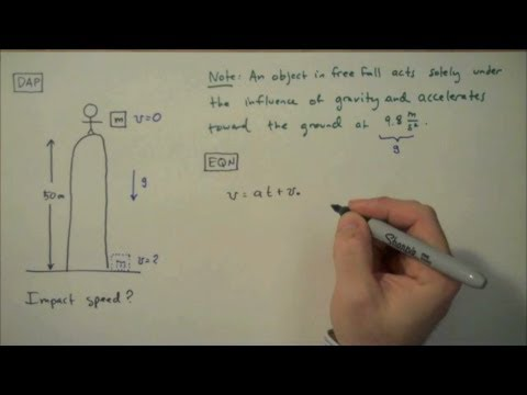 How to Solve a Free Fall Problem - Simple Example