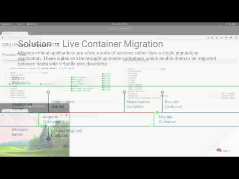 Using Checkpoint / Restore in User Space (CRIU) to Live Migrate Processes & Containers