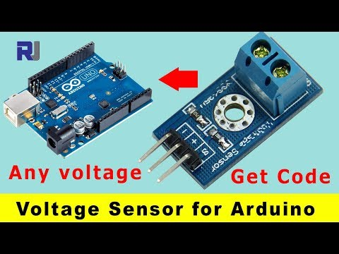 Voltage Sensor for Arduino with code and formula to measure any voltage