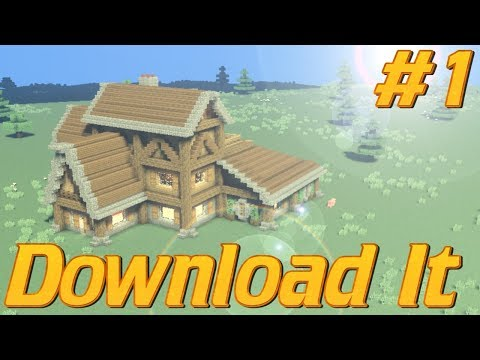 How to Build a House In Minecraft EASILY Using Cubes | Minecraft World with Download | Rustic House