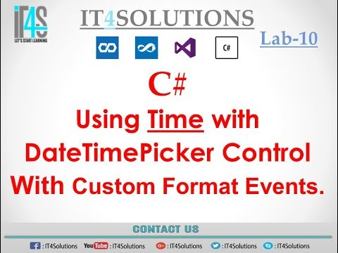 C# Tutorial - Using Time with DateTimePicker Control