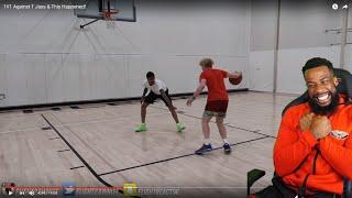 T JASS HAD FLIGHT'S ANKLES STUMBLING!! 1vs1 Basketball T Jass vs Flight!