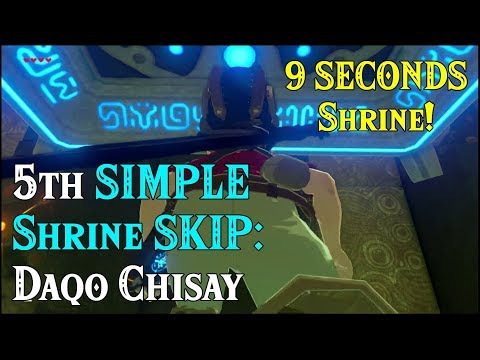 5th SIMPLE Shrine SKIP: Daqo Chisay in 9 SECONDS in Zelda Breath of the Wild
