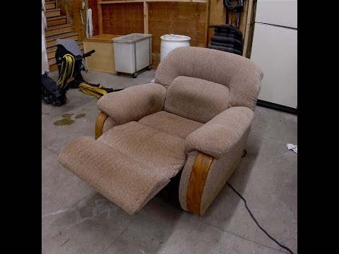 Upholstery Cleaning - Cleaning a smelly Dog Chair Part 1