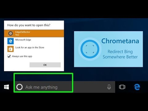 Search on Windows 10 Cortana bar with Google and Chrome