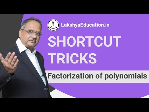 Factorization of polynomials Shortcut Trick : Vedic Maths