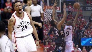 Serge Ibaka Dunks on Greek Freak! Powell Dunks on Thon Maker! Bucks Raptors Game 5