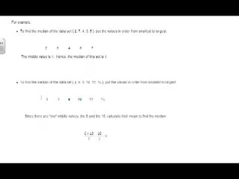 Calculate the Median of a Data Set