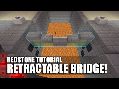 Minecraft: Working Retractable Bridge