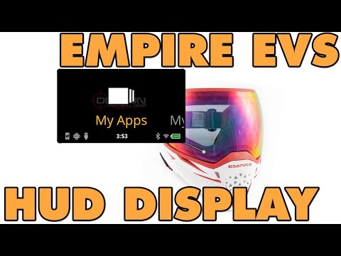 Empire EVS Paintball Mask HUD Display - First Look