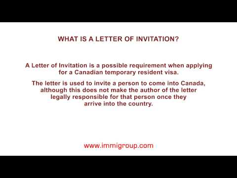 What is a Letter of Invitation?