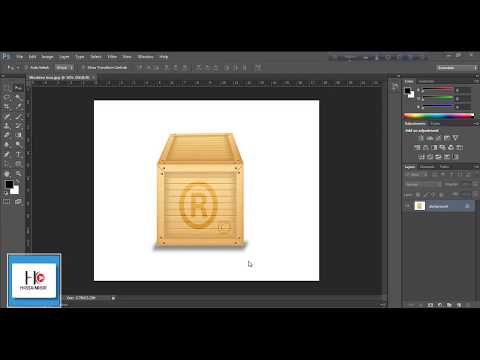 How to create a wooden box in photoshop.