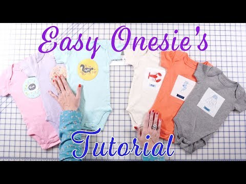 Easy DIY Baby Onesies | Fat Quarter Shop