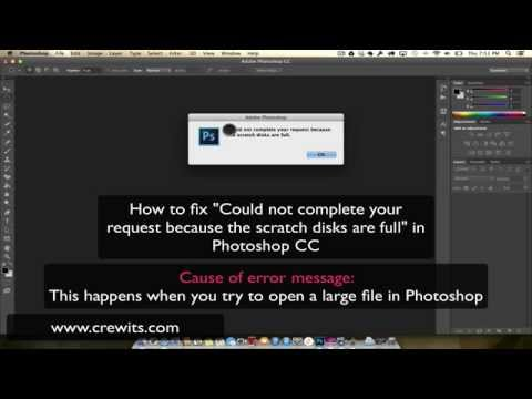 How to fix scratch disks are full in Photoshop CC on MAC