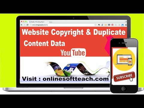 How to Check Copyright & Duplicate Content on Website Urdu / Hindi