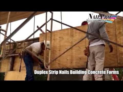 NP-9021D with Strip Duplex Nails Building Concrete Forms