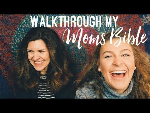 Walk Through MY MOM'S Bible!