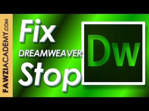 How to fix Dreamweaver has stopped working deleting cache file