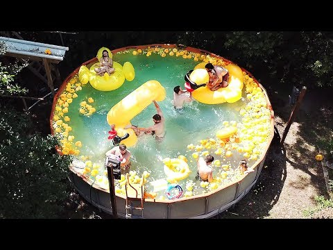 Swimming in a Pool FULL of Rubber Duckies!!