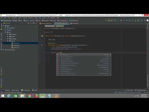 How to change Background colour Of the app -Android Studio 3.0.1