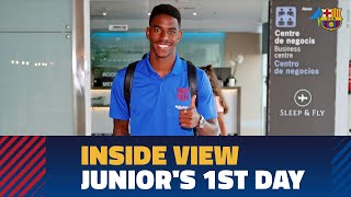 [BEHIND THE SCENES] Junior Firpo's first day in Barcelona
