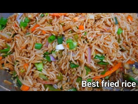 Restaurant Style Chinese vegetable fried rice || How to make veg fried rice recipe || fried rice