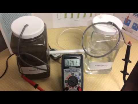 Microbial Fuel Cell w/ Aquarium Air Pump