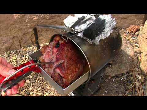 Slow Cooking A Cross Rib Roast For Tender Shredded Beef!  Firebox Camping Stove