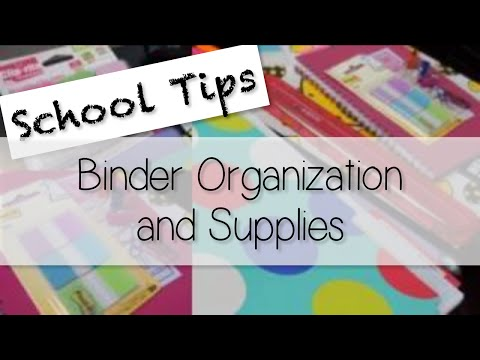 How To Organize Your Binder Notes - Supplies and Tips