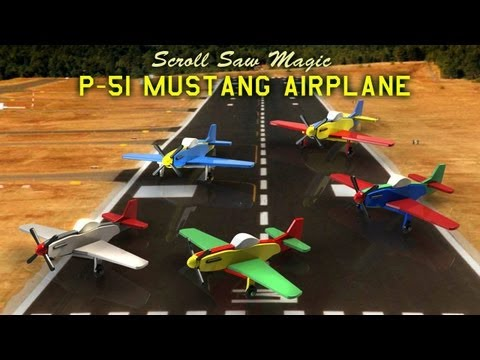 Wood Toy Plans - P-51 Mustang Airplane
