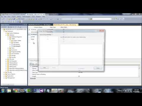 Create A Relation Between Table On SQL Server 2012