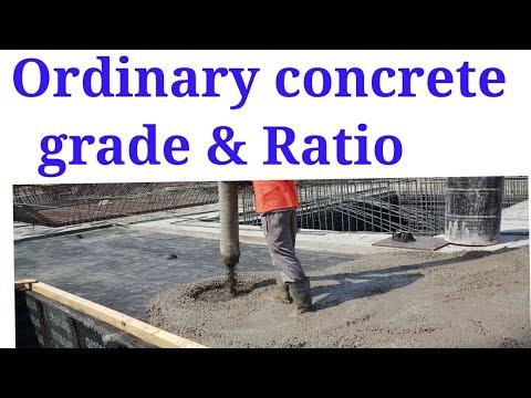 Ordinary concrete grade & Ratio