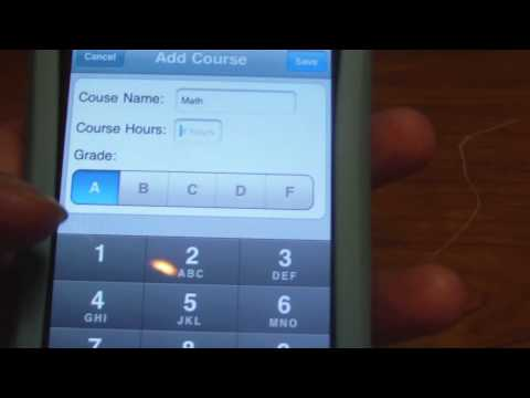 Check your current GPA using your iPhone with Fourpoint