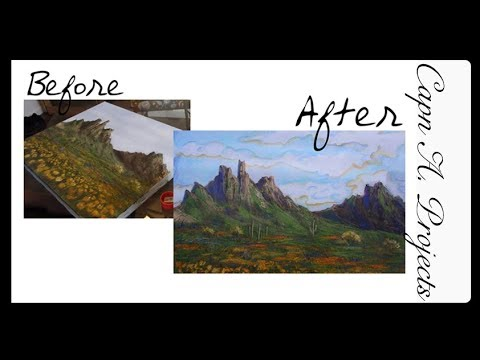 How to Transform an OLD Painting (From hotel painting to masterpiece!)