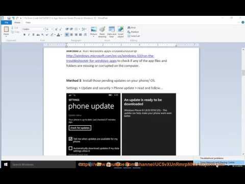 Fix Error Code 0x87AF0813 in App Store on Windows 10 / Smart Phone