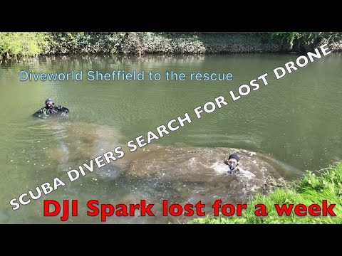 SCUBA DIVERS SEARCH FOR LOST DRONE - DJI SPARK LOST FOR A WEEK IN A RIVER - DIVEWORLD SHEFFIELD