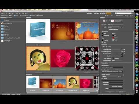 Create a Web Gallery With Adobe Bridge