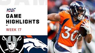 Raiders vs. Broncos Week 17 Highlights   NFL 2019