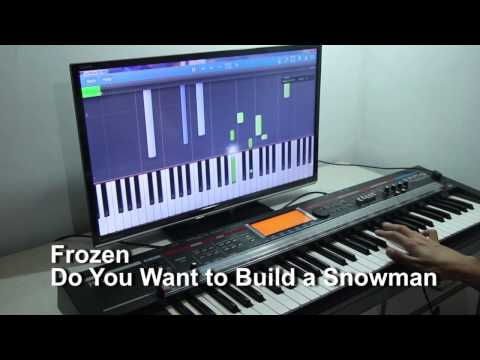 Learning to play Do You Want to Build a Snowman by Frozen on the piano with Synthesia
