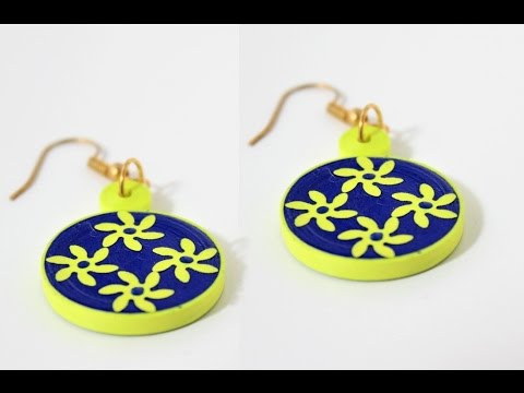 Simple and easy Quilling earrings making/DIY Quilled earrings