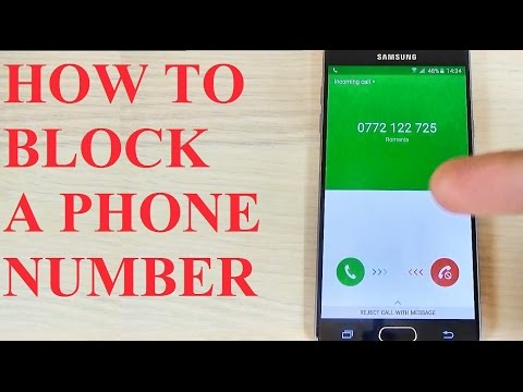Samsung Galaxy A3, A5, A7 (2016) - How to Block a Phone Number/ Call/ Contact