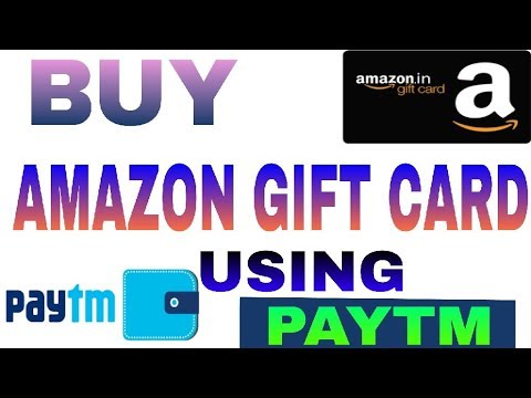 How To Buy Amazon Gift Card Using Paytm