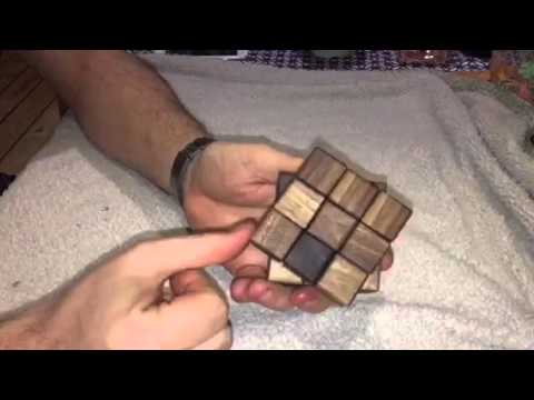 Wooden rubiks cube
