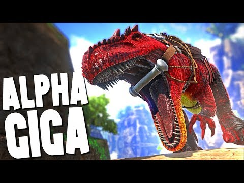 HUGE RAMPAGING ALPHA GIGA - Ark Survival Evolved (Modded)