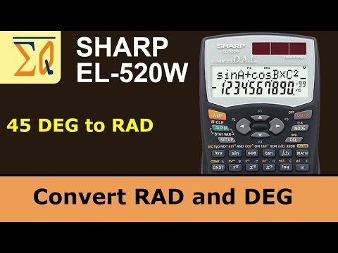 Sharp EL-520W convert Degree and Radian angle