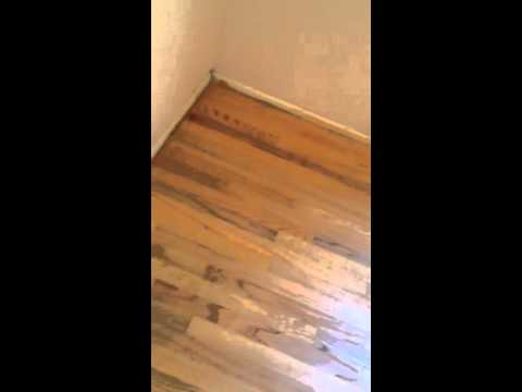 Bad hardwood floor job