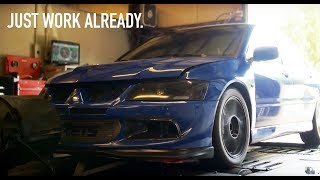 Ron's Built Evo Dyno Day! - What Horsepower Will It Make?